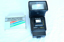Achiever 1850 STW Auto Thyristor Bounce Flash & Lenses for Olympus Tested (#68)