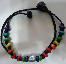 Rainbow Bracelet Wristband Bangle Mens Womens Ladies Boys Girls Kids Jewellery