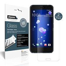 2x HTC U11 Schutzfolie matt - Panzerfolie 9H Folie dipos Glass Kunststoffglas