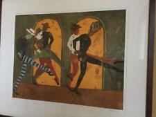 "Liz Maxwell Signed Lithograph "" Harlequin Parade"" Listed Artist,Numbered"