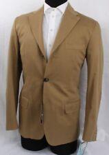 NWT Valentino Jacket Blazer Beige Cotton Size 50 EU 40 US Elbow Patch $1715