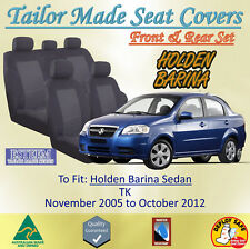Custom Made Black Seat Covers for Holden Barina TK Sedan from 11/2005 to 10/2012