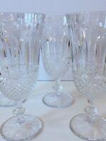 "Shannon Crystal Dublin Wine Glasses Set of 4 Clear Deep Cut 10oz Elegant 7.5"" T"
