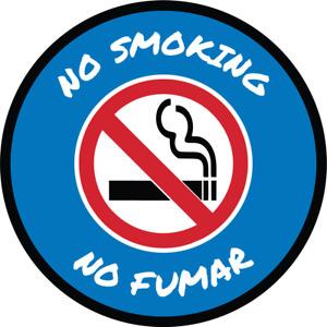 NO SMOKING - NO FUMAR | Adhesive Vinyl Sign Decal