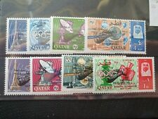 Qatar 1966 ovpt Space Rendezvous complete set of 8, MNH