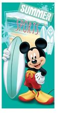 MICKEY DRAP DE PLAGE SERVIETTE DE BAIN 140x70 TOWEL MICKEY SUMMER SPORTS