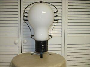 RARE 60S MID CENTURY RETRO GIANT LIGHT BULB POP ART LAMP HANGING OR TABLE WORKS