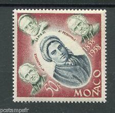 MONACO 1958, timbre 501, APPARITIONS LOURDES, neuf**, BERNADETTE, VF MNH STAMP