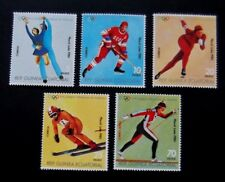 Equatorial Guinea-1980-Lake Placid Winter Olympics-Full set-MNH
