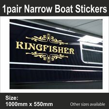 Canal | Narrow Boat | PERSONALISED BOAT NAME | Vinyl Sticker Graphic | BB193