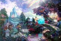Thomas Kinkade Disney Cinderella Wishes Upon A Dream 18x27 A/P Lithograph