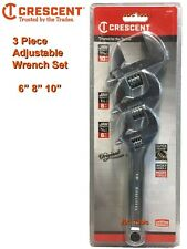 Crescent 3 pc Adjustable Wrench Set - New