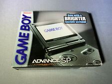 Nintendo Game Boy Advance SP - Graphite - AGS-101 - Complete - Mint Screen