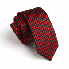 New Red Black Spot Dot Casual Slim Narrow Mens Tie UK Seller Father Suit