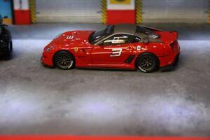 Ferrari 599XX ROUGE #3 1/43 hotwheels elite 6263