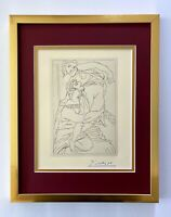 PABLO PICASSO + 1962 SIGNED SUPERB ENGRAVING MATTED 11 X 14 + LIST $895