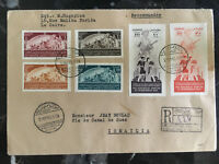 1949 Cairo Egypt First Day Cover  FDC to Ismailia # 278-279