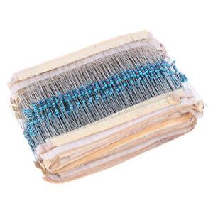 1460Pcs 1/4W Metal Film Resistor Kit Assortment Set Labelled 1%Precision 7*jn