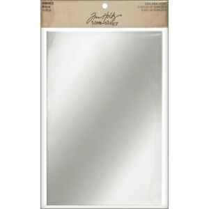 """Idea-Ology Adhesive Backed Mirrored Sheets 6""""X9"""" 2/Pkg by Tim Holtz"""