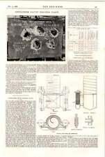 1898 Exley générateur d'acétylène Bethléem Krupp processus Plaque
