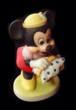 Rare Walt Disney Minnie Mouse Figurine With Picnic Basket Mint