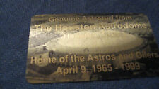 HOUSTON ASTRO DOME   ASTRO TURF  seat PLAQUE HOME OF THE OILERS AND ASTROS