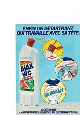 PUBLICITE  1980   AJAX WC   détartrant