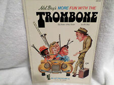 Mel Bay's BOOK More Fun with the Trombone, by Bill Bay, 1976 Big note Easy solos