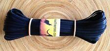 """Kangaroo Lace BLACK Kangaroo Leather Lacing (3.0mm 1/8"""" Width) 10 meter hank"""