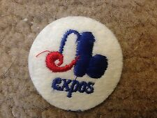 """1970 VINTAGE MONTREAL EXPOS IRON ON PATCH  2"""" CIRCLES OLD STORE STOCK"""