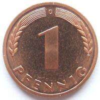 TOP! 1 Pfennig 1950 G in POLIERTE PLATTE SELTEN !!!