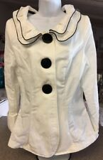 Song & Sung Design Today's Jacket Coat Blazer Double Collar White & Black Small