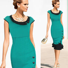 Women Cocktail Party Slim Fit Patchwork Pencil Mermaid Office Prom Pencil Dress