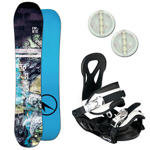 TRANS PIRATE KINDER SNOWBOARD SET ~ 140 CM + ELFGEN JUNIOR BINDUNG GR. M + PAD
