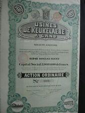 ACTION BELGIQUE GENT GAND USINES DE KEUKELAERE 1912