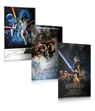 "STAR WARS: EPISODE IV, V & VI - 3 PIECE MOVIE POSTER / PRINT SET (27 X 40"")"