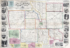 New listing 1853 Map of Tompkins County New York from actual surveys