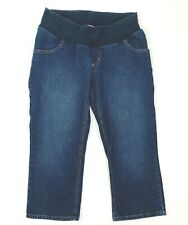 Motherhood Maternity Women's Denim Capris Cropped Blue Jeans Size Small Stretch