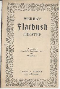 1928 Program A Most Immoral Lady Werba's FLATBUSH Theatre