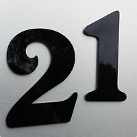 Acrylglas Hausnummer Hochglanz schwarz 15 cm hoch  0,1,2,3,4,5,6,7,8,9,a,b (HN2)
