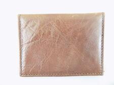 GUESS $75 Brown ID Wallet MEN Leather Wallet SALE D05