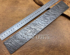 TITANs 33x5cm XL Original Damascus Steel Billet Bar Crafts Knife Making FR13