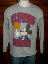 New listing Rare Nba Disney x Los Angeles Clippers Junk Food Mickey Mouse T-Shirt Sz M L/S