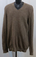 Joseph Abboud 100% Cotton V-neck Pullover Sweater Brown Size Large L