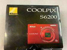 Nikon COOLPIX S6200 16.0MP Digital Camera - Red