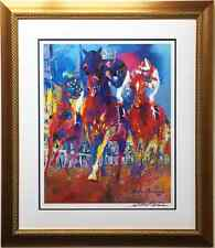 "LeRoy Neiman ""KENTUCKY RACING"" Derby Lithograph CUSTOM FRAMED - Hand SIGNED"