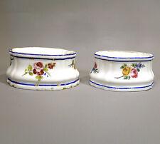 Sèvres Porcelaine Tendre Paire Salerons Ovales 18ème Bouquets