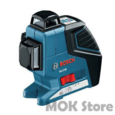 Bosch GLL3-80P Professional Leveling 360 Degree Multi Line Laser Level Alignment