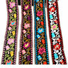 1 yard Flower Embroidered Trim Floral Bohemian Ethnic Ribbon DIY Sewing Edge