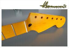 One Piece Canadian Maple Stratocaster Neck, 21 Medium Jumbo Finish Vintage Satin